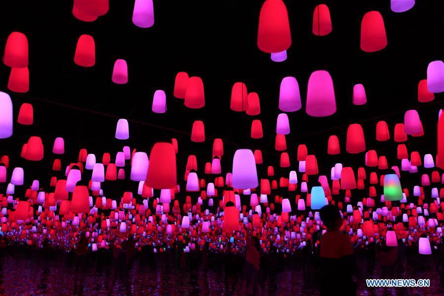 #CHINA-SHANDONG-QINGDAO-HOLIDAY-LIGHT SHOW (CN)