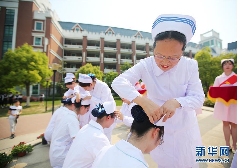 #(社會)(1)江蘇南通:授帽儀式迎接護士節