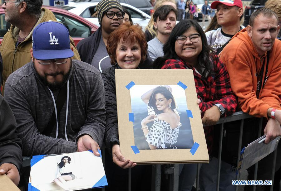 Anne Hathaway attends Hollywood Walk of Fame Star Ceremony in L.A.