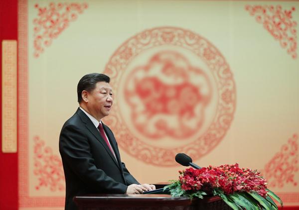 电子游戏美高梅网址2月3日,中共中央、国务院在北京人民大会堂举行电子游戏美高梅网址春节团拜会。中共中央总书记、国家主席、中央军委主席习近平发表讲话。