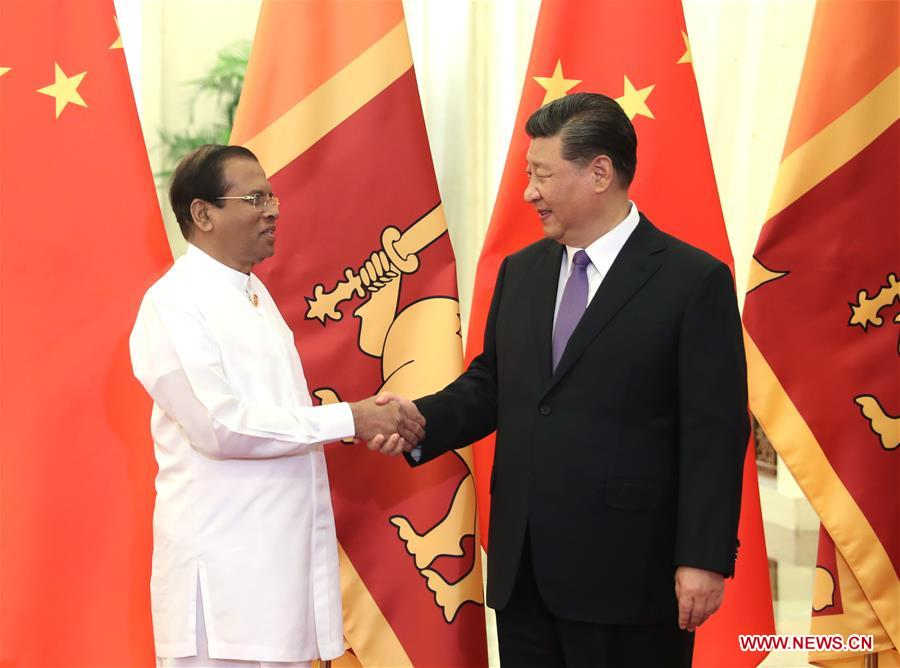 CHINA-BEIJING-XI JINPING-SRI LANKAN PRESIDENT-MEETING (CN)
