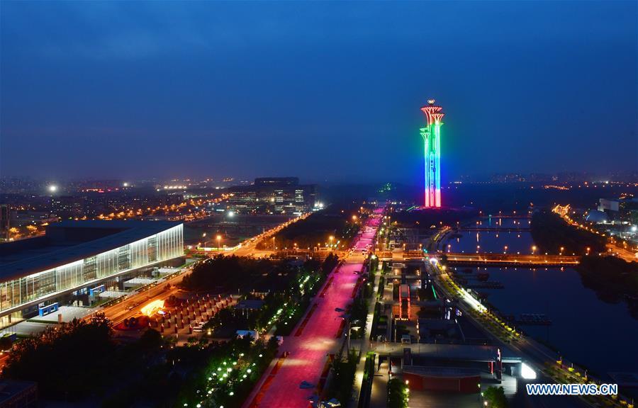 (CDAC) CHINA-BEIJING-CDAC-LIGHT-NIGHT VIEW (CN)