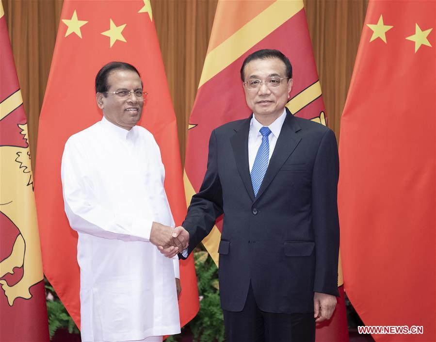 CHINA-BEIJING-LI KEQIANG-SRI LANKAN PRESIDENT-MEETING (CN)
