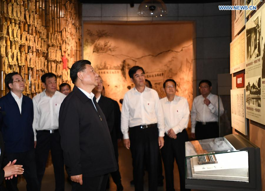Xi visits old revolutionary base area during inspection tour in Jiangxi