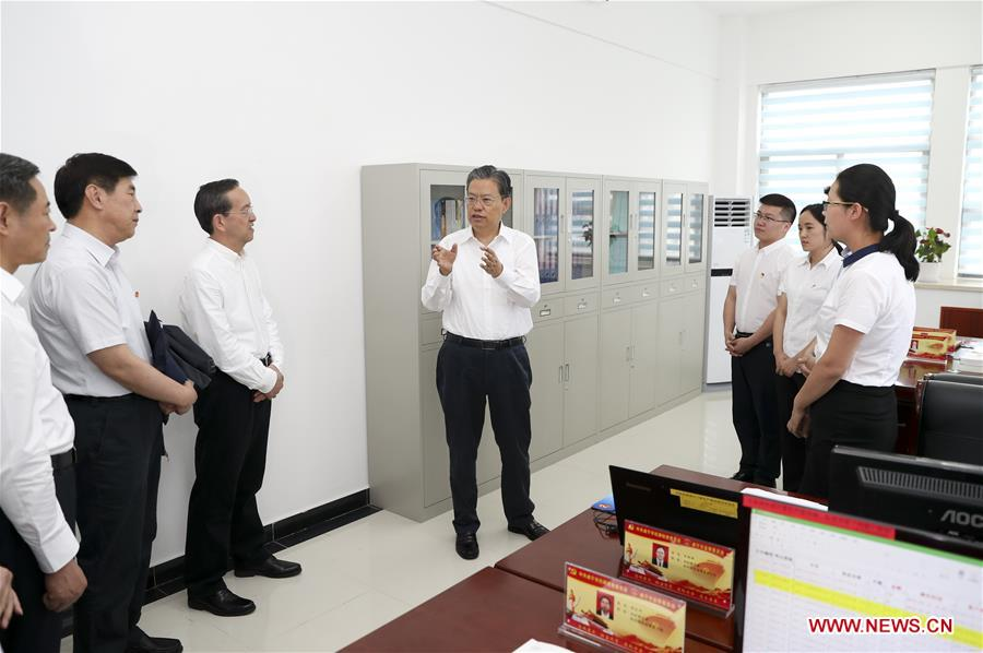 Zhao Leji makes investigation and research tour in Hubei - People's