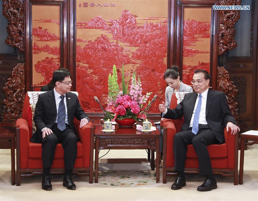 CHINA-BEIJING-LI KEQIANG-SINGAPORE-HENG SWEE KEAT-MEETING (CN)