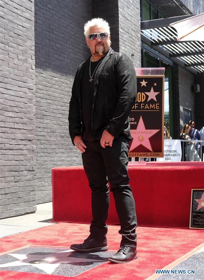 U.S.-LOS ANGELES-GUY FIERI-HOLLYWOOD WALK OF FAME-STAR CEREMONY
