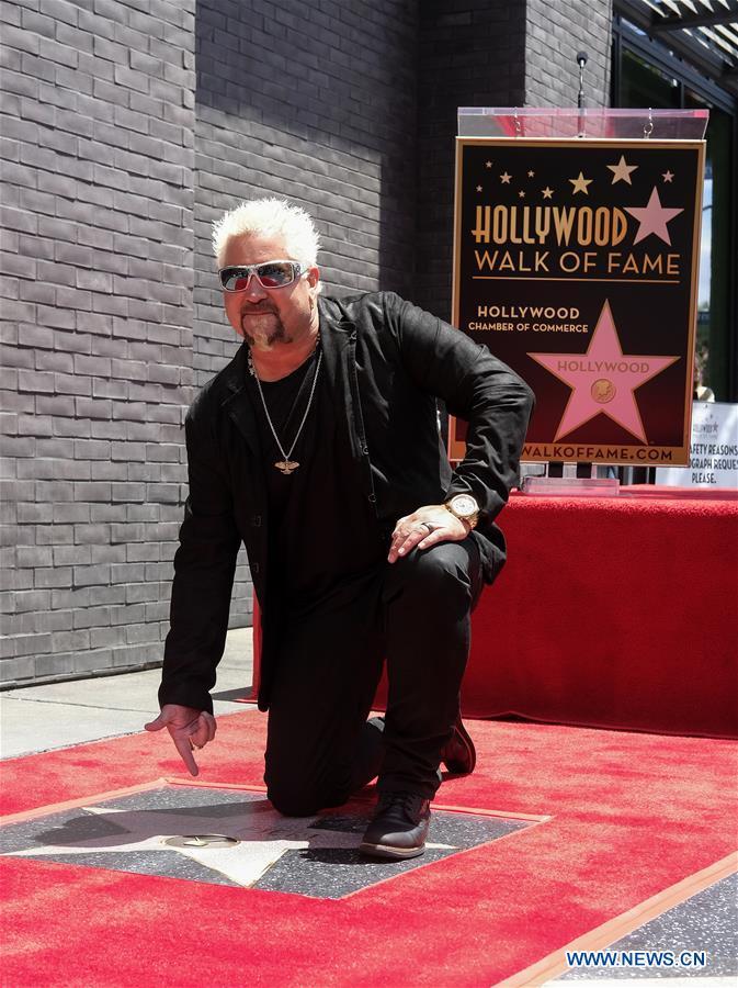 U.S.-LOS ANGELES-GUY FIERI-HOLLYWOOD WALK OF FAME-STAR CEREMONY