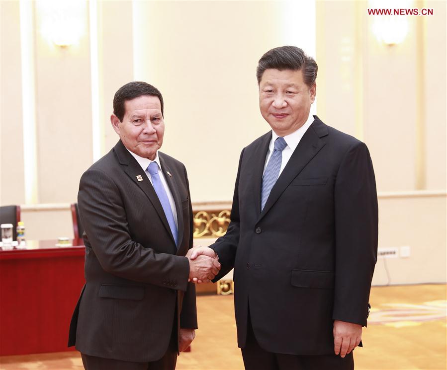CHINA-BEIJING-XI JINPING-BRAZILIAN VICE PRESIDENT-MEETING(CN)