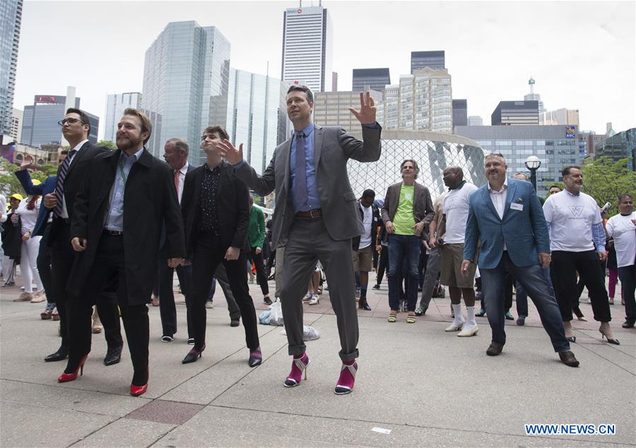 2019 Walk a Mile in Her Shoes event held in Toronto, Canada
