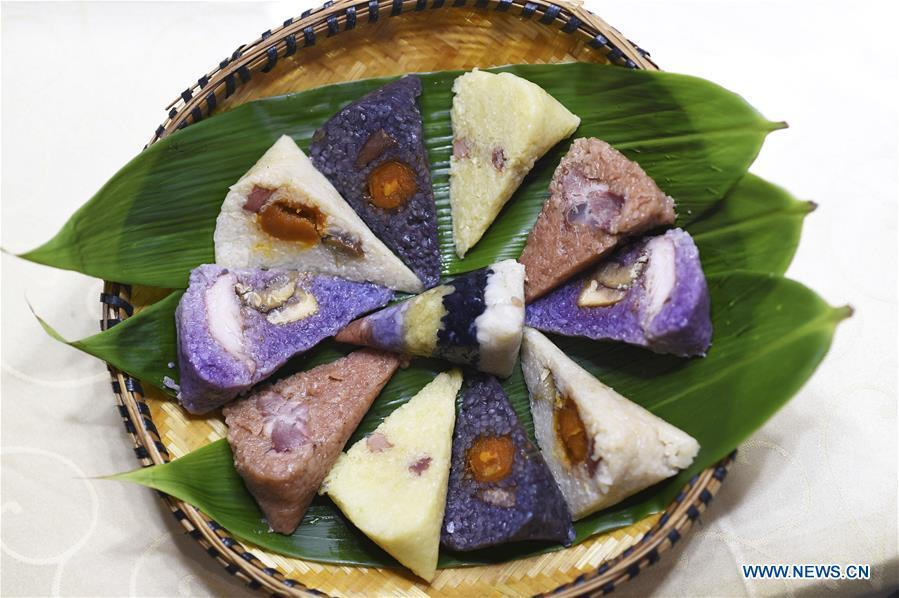 Traditional food for Dragon Boat Festival Zongzi made colorful