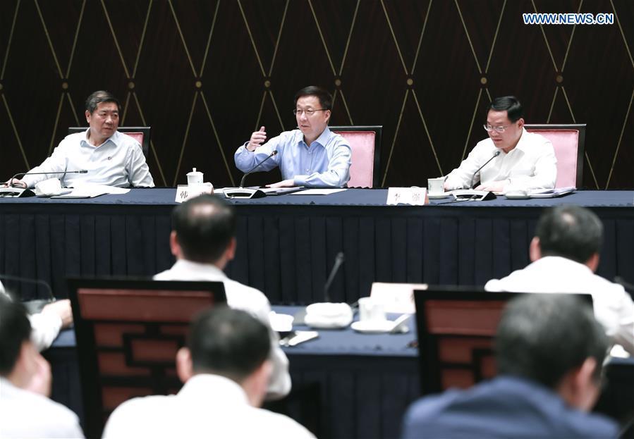 CHINA-SHANGHAI-HAN ZHENG-YANGTZE RIVER DELTA INTEGRATION-MEETING (CN)