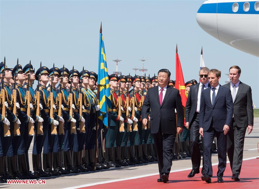 RUSSIA-MOSCOW-XI JINPING-ARRIVAL