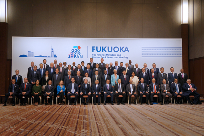 G20 finance ministers and central bank governors meet in Fukuoka, Japan, for a two-day meeting on trade and digital economy that concludes on June 09, 2019. [Photo: mof.gov.cn]