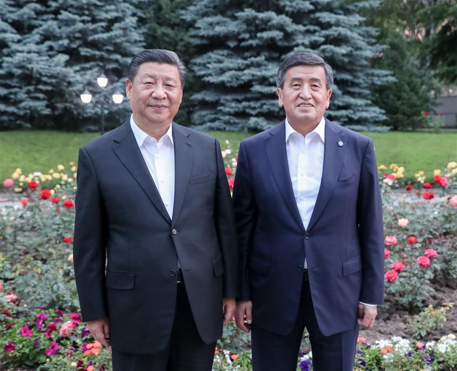 KYRGYZSTAN-BISHKEK-CHINA-PRESIDENTS-MEETING