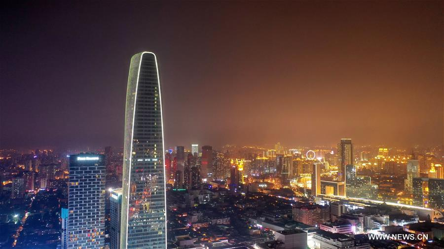 Night view of China's Tianjin
