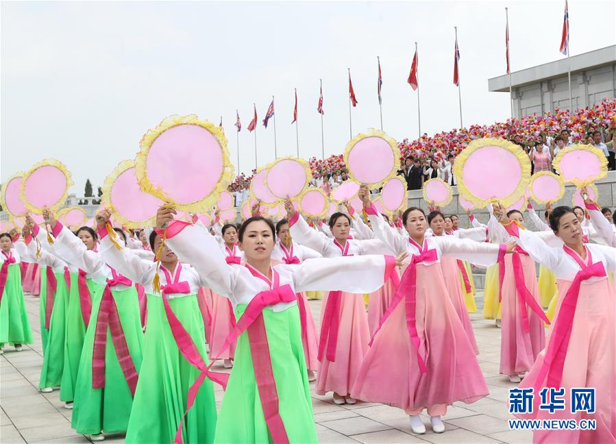 (XHDW)(4)朝鲜民众热烈欢迎习近平