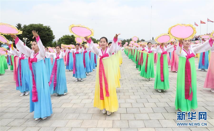 (XHDW)(2)朝鲜民众热烈欢迎习近平