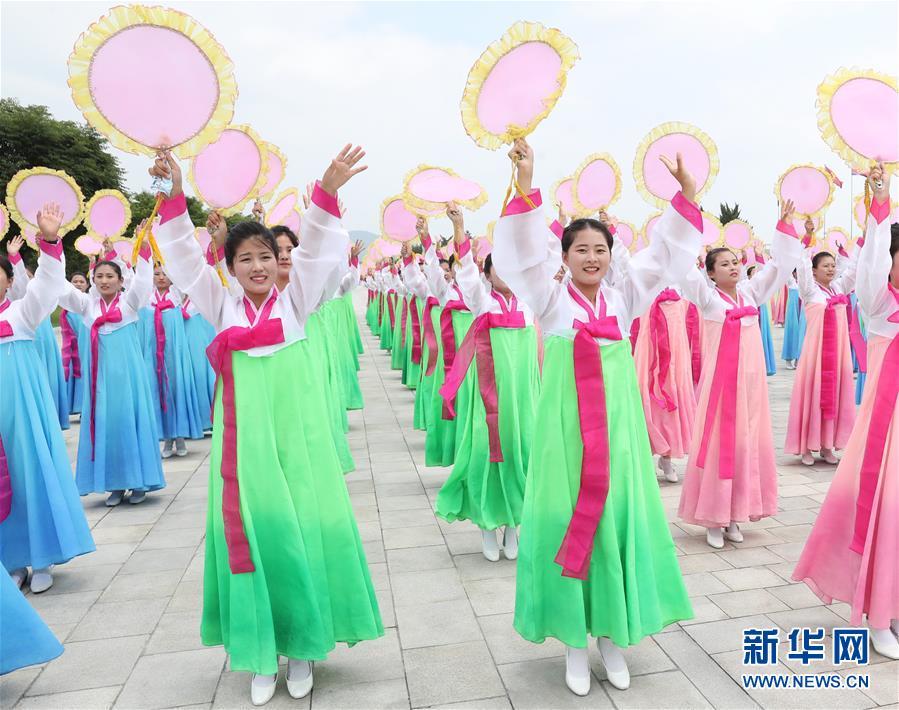 (XHDW)(3)朝鲜民众热烈欢迎习近平