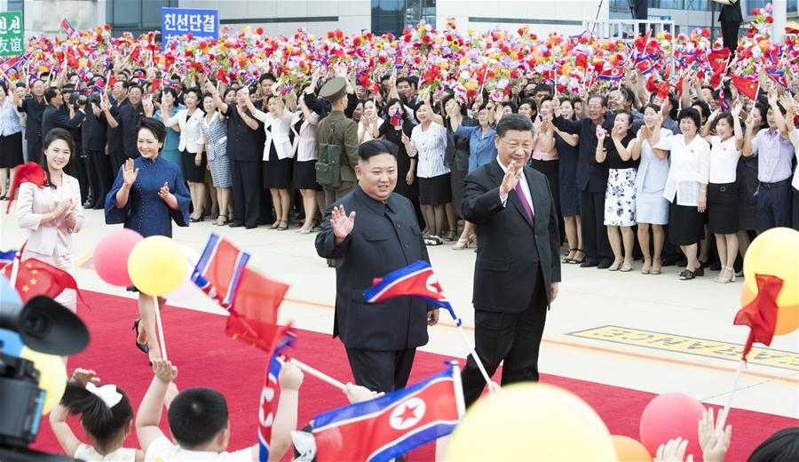 DPRK-PYONGYANG-CHINA-XI JINPING-SEEING-OFF CEREMONY