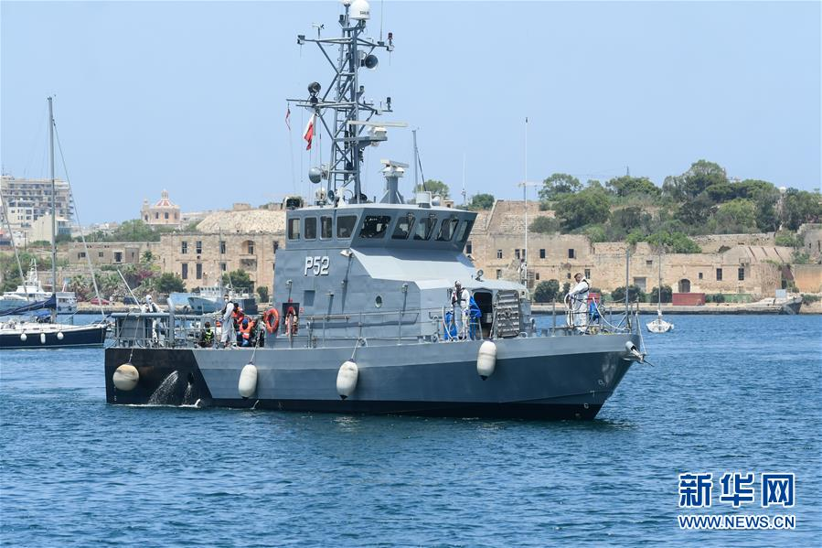 (XHDW)(1)马耳他武装部队营救37名偷渡者
